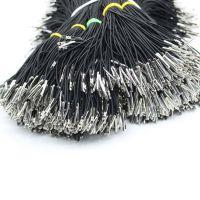 优质松紧绳加工打头 国产进口圆松紧金属头加工 塑料卡头订做长度