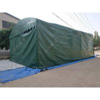 大型户外大排档家用汽车棚雨蓬推拉活动伸缩移动遮阳防雨篷停车棚