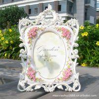 6寸田园创意相框厦门欧佰纳家居饰品画框树脂玫瑰相框促销礼品