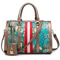 女士包包枕头包2017新款春夏欧美时尚波士顿桶包印花手提斜挎包潮