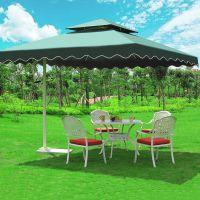 合肥售楼处别墅庭院伞配套家具户外休闲桌椅景观样板区咖啡馆外摆