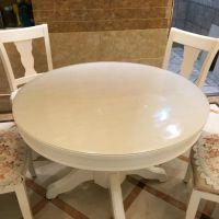 圆形pvc软玻璃圆桌桌布防水防油防烫透明欧式水晶板餐桌垫隔热垫