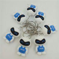 PVC工艺品3D立体软胶钥匙扣国产手机吊饰手机活动小禮品钥匙链