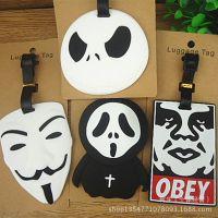 旅游用品~杰克 骷髅头 白面具系列公仔行李牌 箱包吊牌