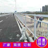 清远圆钢车道围栏 路侧式防护栏 云浮市政道路围栏京式防护栏