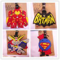 新版~复仇者联盟 蝙蝠侠 高达 超人系列行李牌 箱包吊牌
