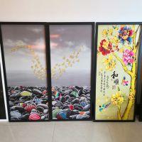 玻璃无框画浮雕彩绘机 玻璃无框画UV平板彩绘机