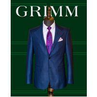 成都西装定制 2018新款精品男式西服定制 单排两粒扣平驳领羊毛黑色西装