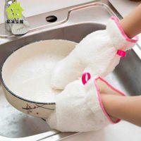 厂家直销竹纤维洗碗手套防水隔层不沾油清洁手套一件代发贴牌定制