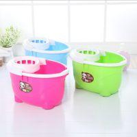 新款促销 加厚塑料拖地桶 家居手提带轮地拖桶 拖布拧水桶 拖把桶