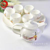 唯奥 厂家直销骨瓷茶具套装一壶六杯精品功夫茶道陶瓷礼品广告定制画面