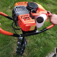 可栽植多种规格电线杆的手扶挖坑机 汽油挖坑机