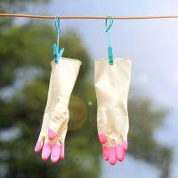1817 家务清洁洗衣手套洗碗橡胶手套 家用防水薄款乳胶手套