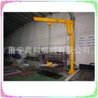 生产定柱式旋臂起重机 物流站大宗货物单臂吊 柱式悬臂小吊机