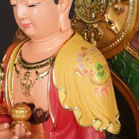 摆件 西方三圣摆件 彩绘观世音菩萨佛堂佛教供奉摆设用品8265