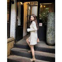 佳人苑武汉品牌女装批发折扣 品牌女装工厂尾货橘色半身裙