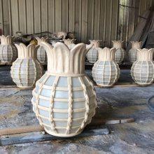 户外园林景观砂岩树脂灯罩 创意透光小品摆件 菠萝造型仿沙岩石雕灯饰