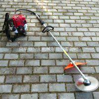 湖北园林绿化割草机 斜跨式汽油割草机 除草机使用方法