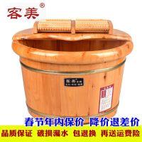 家用双人成人理疗香柏木桶洗脚桶老年足疗器泡脚盆足浴桶养生带盖