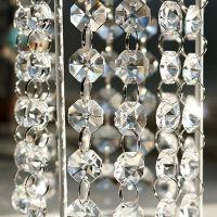 婚礼场地布置18mm透明亚克力八角珠珠链婚庆道具挂饰餐桌花艺配饰