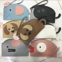 韩版动物系列~大象 小猫咪 狗狗PU皮手机包 手挽个性小钱包