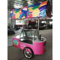 精美冰淇淋流动车雪糕移动展示花车 厂价直销 全国联保