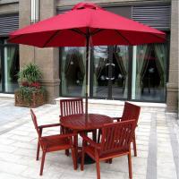 南京户外实木桌椅室外休闲桌椅伞组合售楼部洽谈商业街家居庭院阳台