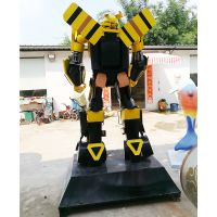 大型变形金刚雕塑模型汽车人模型金属机器人擎天柱大黄蜂厂家直销