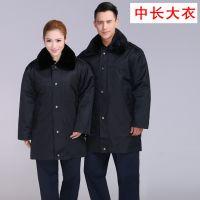 多功能大衣中款男女工作服公司定制LOGO保安棉服户外棉衣工作服