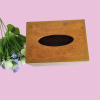 酒店饭店茶餐厅专用餐巾纸盒现货木质纸巾盒客厅纸巾盒可雕刻logo