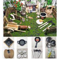 JSH小伶迷你小厨房玩具餐具套装真做饭真煮快手同款食玩日本小小