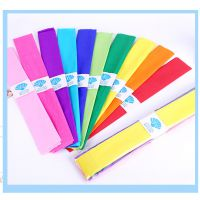 彩色皱纹纸花手工材料 手揉纸 手工折纸儿童手工纸压花纸10色混装