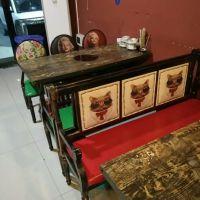 西安厂家直销复古铁艺卡座沙发奶茶店甜品店咖啡厅西餐厅火锅店沙发