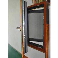 105铝木复合一体窗定制厂家-南京阔曼门窗厂-别墅高档小区铝木复合门窗定做