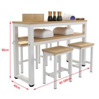 时尚双层美甲台单双人美甲桌椅组合美容院化妆桌家用钢木梳妆台