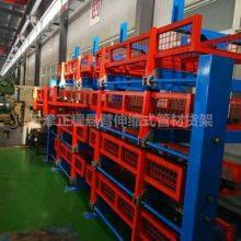 厦门悬臂伸缩式货架 放钢管的架子 伸缩悬臂式货架图片