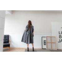 一三国际羽绒服折扣女装批发折扣 品牌尾货女装进货杭州灰色旗袍唐装