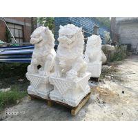 厂家提供大门口摆件小石雕狮子石狮子 青石石狮子 汉白玉石狮子