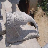 石雕园林动物摆件 石头仙鹤 各种动物石雕塑品园林公园石头摆件