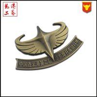 厂家定做胸章珐琅胸牌创意复古金属镀金徽章纪念章滴胶标牌制作