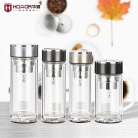 华象玻璃杯子定制 耐高温双层玻璃杯可以印字厂家直销一件代发