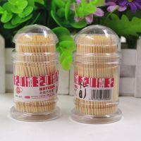 瓶装牙签家用一次性双头竹子细牙签酒店餐厅牙签盒便携透明瓶装