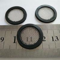 不锈钢滤网橡胶包边DN25水表外径21过滤网垫片40目