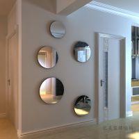 可定制特价3d亚克力镜面墙贴玄关餐厅客厅水晶立体墙贴自由组合圆