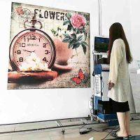 华美02爱普生双喷头3d立体墙面壁画打印机