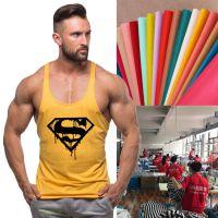 工厂加工定制印花纯棉男士运动休闲肌肉健身背心