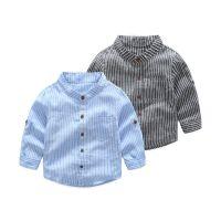 清仓处理童衬衫 韩版男童百搭条纹长袖衬衫速卖通亚马逊一件代发