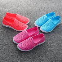 2018夏季女士包头洞洞鞋凉鞋 情侣休闲透气鸟巢沙滩塑胶妈妈鞋
