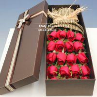 鲜花礼盒花束郑州同城鲜花速递生日19朵红玫瑰花上门送花