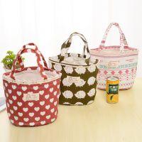 爱奇 日系棉麻抽绳保温桶便当袋收纳包用品盒箱厨房家居生活